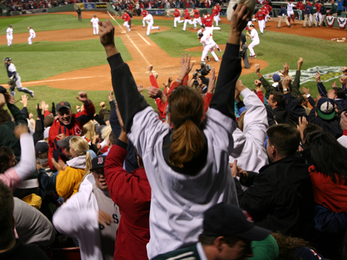 . . . 'We're going to Tampa!' -- Chip Caray, TBS's play-by-play voice, 12:16 a.m., Oct. 17, 2008