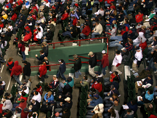 Meanwhile, a number of fans began heading to the exits in the sixth inning . . . a decision they probably regretted Friday morning.