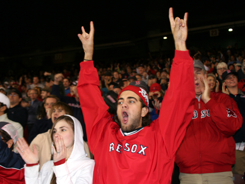 When Dustin Pedroia knocked in Jed Lowrie with the Sox' first run in the seventh inning, Fenway had a pulse.