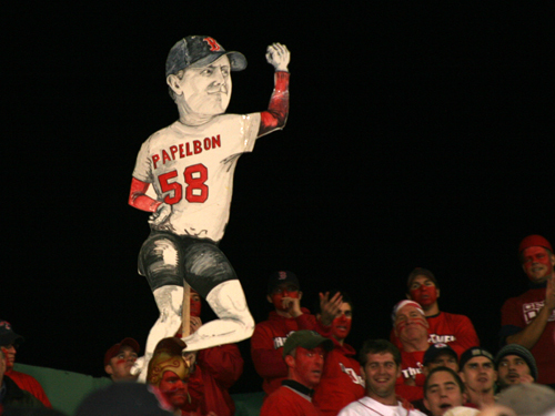 The K-men and the Swinging Papelbon kept a close watch on the Sox comeback. Fenway kicked it up a notch when Terry Francona called for Jonathan Papelbon to relieve Manny Delcarmen in the seventh inning.