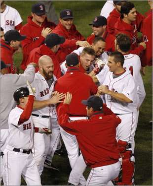 The kings of postseason comebacks staged their biggest rally of all Thursday night, rallying from a 7-0 deficit in the final three innings to beat the Rays, 8-7, in Game 5 of the ALCS at Fenway Park and stave off elimination. How did the Red Sox do it? We'll take you through the historic come-from-behind victory ...