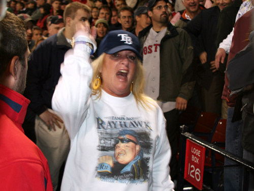 The entire Nasty Knobbs fan club took an early exit and missed the late-night festivities at Fenway as the Sox roared all the way back to shock the Rays and their fans in the stands.