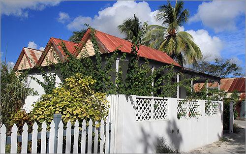 Traditional Bajan architecture near Sandy Beach in Christ Church Parish.