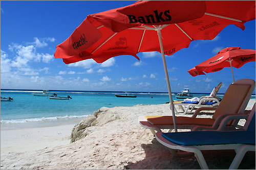 Sandy Beach is one of the few west coast beaches in Barbados not fronted by a hotel resort.
