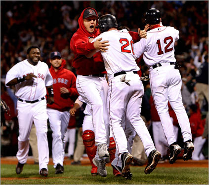 What is it about ALCS elimination games that brings out the best in the Red Sox? Boston won its ninth straight ALCS elimination game Saturday night, after winning its eighth straight Thursday night in historic fashion, rallying from a 7-0 deficit in the final three innings. What follows are other historic postseason series comebacks by the Red Sox ...