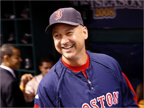 Red Sox manager Terry Francona looked on during warmups.