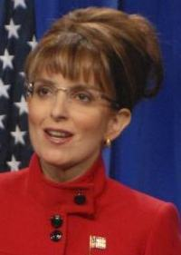 Actress Tina Fey imitated Sarah Palin's accent.
