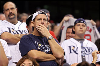 Rays fans stood in disbelief as their team lost Game 6.