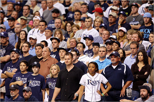 Another view of Rays fans, who had little to cheer about in Game 6, at Tropicana Field.