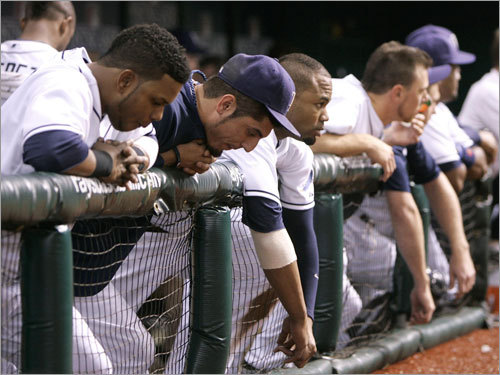Rays players stood on the top step of the dugout and watched their chances slip away in Game 6.