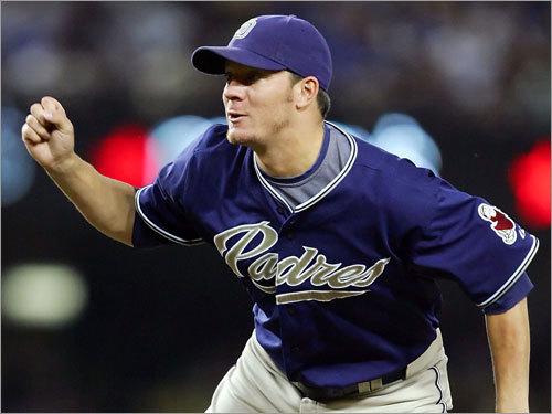 Jake Peavy 2008 statistics: W-L ERA IP K BB 10-11 2.85 173 2/3 166 59 He's signed through 2012 (with an option for 2013) and can veto any trade, but Peavy's name always comes up in talks because of San Diego's recent struggles. It would take a ransom to pry him away (the Braves are reportedly close to a deal for the ace), and the Sox aren't likely to make a play for Peavy -- or any other front-line starter.
