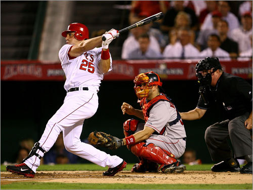 Mark Teixeira 2008 statistics: Avg. HRs RBIs OBP SLG .308 33 121 .410 .552 The 28-year-old left the Braves at the trade deadline to make a postseason run with the Angels. He's averaged 35 homers and 118 RBIs the past five seasons and has power from both sides of the plate. Teixeira also is a two-time Gold Glove winner at first base who finished this year with more walks (97) than strikeouts (93).