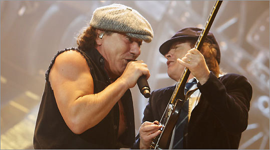 AC/DC's Angus Young (right) and Brian Johnson haven't tried to change their look - or sound.
