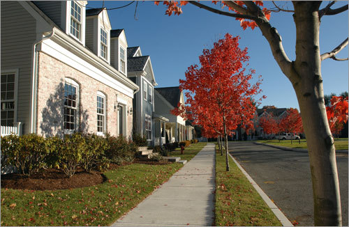 Olde Village Square is not a gated community, and there are no restrictions on age of residents. Costello said the homes will have a mix of two, three, and four bedrooms, which will attract downsizing empty-nesters, as well as growing families.