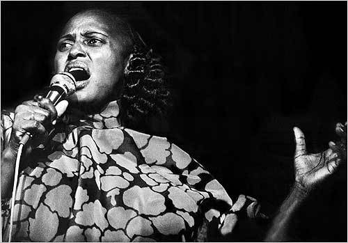 Miriam Makeba Nov. 10 Miriam Makeba, the South African singer who gained world recognition with her sultry voice but was banned from her own country for more than 30 years under apartheid, died after collapsing on stage in Italy. She was 76.