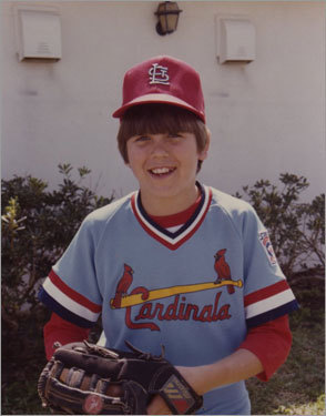 1982 Varitek, shown here at age 10, played shortstop, third base, and catcher in youth leagues.