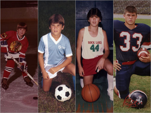 Varitek was born April 11, 1972 in Rochester, Mich. He was a multi-sport athlete as a child, as evidenced by these family photos.