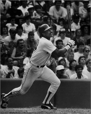 Jim Rice, 1978 Ron Guidry and the Yankees beat the Red Sox in a one-game playoff to make the postseason, but the 25-year-old slugger edged the Yankees' 25-game-winner for the AL MVP honor, leading the league in home runs (46), RBIs (139), hits (213), triples (15), and slugging percentage (.600). Rice is the only player to lead the majors in homers, RBIs, and triples in the same season, and his 406 total bases were the most in the AL since the Yankees' Joe DiMaggio compiled 418 in 1937.