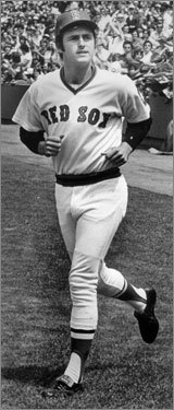 Fred Lynn, 1975 Along with fellow rookie Rice, Lynn was one of the famed 'Gold Dust Twins' who arrived on the scene in '75 and helped spark the Red Sox to the American League pennant. A graceful center fielder with a classic lefthanded swing, the 23-year-old Californian batted .331 with 21 homers, 105 RBIs, and an OPS of .967 while also winning the AL Rookie of the Year award. His signature performance came June 18 at Tiger Stadium, when he went 5 for 6 with three homers and 10 RBIs.