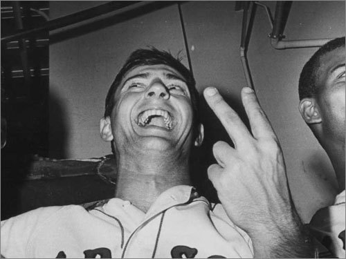 Carl Yastrzemski, 1967 The 'Impossible Dream' came true due mostly to the season-long superhuman efforts of Yaz. The 27-year-old won the AL Triple Crown with a .326 batting average, 44 home runs (tied with the Twins' Harmon Killebrew), and 121 RBIs as the Red Sox improbably won the AL title (their first since 1946) a year after finishing in ninth place. Yaz was particularly brilliant down the stretch, batting .619 (13 for 21) over the final six games as the Sox took first place by a single game.
