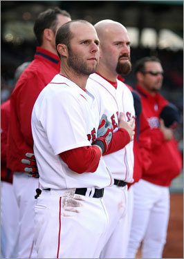 Dustin Pedroia (left) was named the American League's Most Valuable Player for the 2008 season. Teammate Kevin Youkilis finished third. It was the 10th MVP award in Red Sox history. (Note: Boston's Tris Speaker won the Chalmers Award in 1912, the precursor to the MVP.) Here's a look at Red Sox MVPs through the years ...