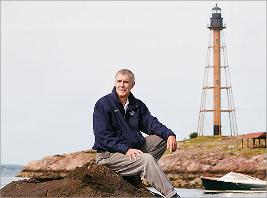 Rich Wilson, 58, who set sail this month on a lone voyage around the world, explains why he's more comfortable at sea than at home in Marblehead.