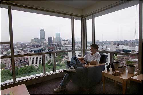 Graduate degree cost cut Northeastern University announced a 25 percent tuition break for recent graduates pursuing a master's degree. The Double Husky Scholarship will be offered to students who graduated in 2005 or after. Pictured, student Matt Forbes sat in his Northeastern dorm room.