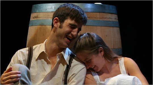 Samson Kohanski and Jennifer O'Connor in ''Mary's Wedding.''