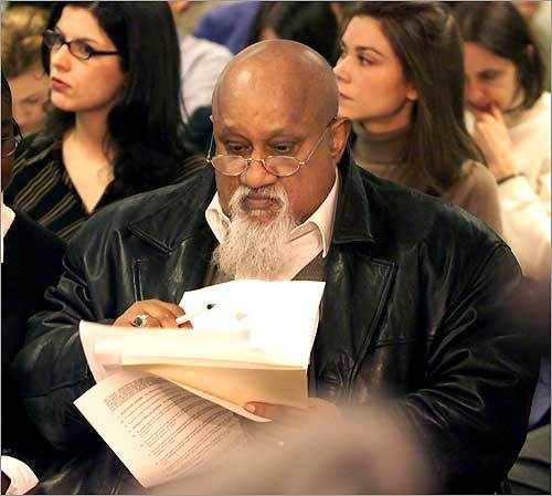Despite his outspoken actions and often abrasive personality, Turner usually ran unopposed, except in 2003, when he still managed to receive 83 percent of the vote, and 2009. At left, the city councilor attended a public health hearing in 2001.