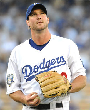 Derek Lowe Our old Fenway friend has been an innings-eater in Los Angeles over the past four years. Lowe, 35, has drawn interest from the wealthy teams like the Yankees, Mets, Phillies and Red Sox.