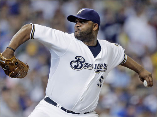 CC Sabathia The Sox are unlikely to make a play for him, but the team that lands the lefty will tie up a significant amount of cash. The Brewers can't afford him, and it appears that the Dodgers, Giants and Angels have been outbid by the Yankees, who are rumored to have made an offer in of around $140 million over six years. If New York is Sabathia's destination, the Yankees could be out of the bidding for other top pitchers.