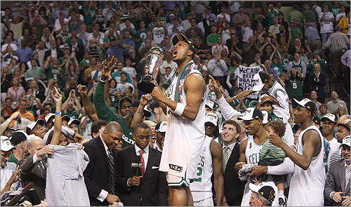 And the winner is ... In a memorable year, with many deserving candidates, it was Paul Pierce who received this year's honor as The Boston Globe Magazine's Bostonian of the Year. Pierce, who's been with the Celtics through some of the most dismal seasons in the team's history, stepped up in a major way in the 2008 NBA Finals, and finally brought a banner back to Boston. Globe Magazine: Paul Pierce is 'Bostonian of the Year'