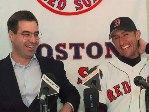 Nomar Garciaparra, $45.25 million After the beloved shortstop won the 1997 AL Rookie of the Year, Dan Duquette (left) signed Nomah to a five-year, $23.25 million deal with two option years that brought the total to $45.25 miillion (more than $50 million with performance bonuses met by Garciaparra). After having a few MVP-like seasons -- and a couple marred by injury -- he was traded to the Cubs in the last option year, 2004.
