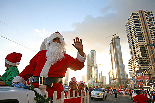 People took part in the annual Christmas parade in Panama City, Panama, on Dec. 14.