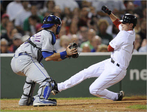Catcher, continued As the Globe's Nick Cafardo notes, will offense be more of a priority in a catcher now that the team lost out on Teixeira? If so, Miguel Montero of Arizona might be more of a target, or Jarrod Saltalamacchia (pictured), who played winter ball in the Dominican for a few weeks but has returned home. Remember, too, the Sox need a backup catcher as well. Their backup last season, Kevin Cash, has decided to join the Yankees.