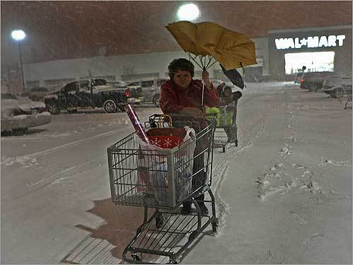 Rosemary Roche, of Dorchester, did some last-minute shopping at The Hanover Mall in Hanover on Dec. 19.