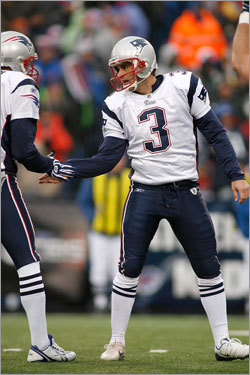 Despite the wind, Stephen Gostkowski was able to get a field goal through the uprights in the first half.