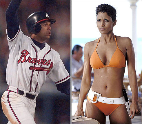 Halle Berry and former Atlanta Braves star David Justice were married in 1993. As the Braves and Justice rose in prominence, the marriage suffered. The couple filed for divorce three years later.
