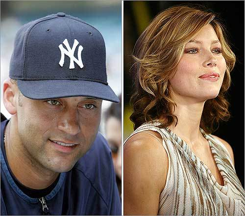 Who did Derek Jeter not date? His list of A-list celebrities includes Mariah Carey, former Miss Universe Lara Dutta, Jessica Alba, and many more. Jessica Biel (right) was Jeter's most recent confirmed celebrity love. She's moved on though -- to Justin Timberlake.