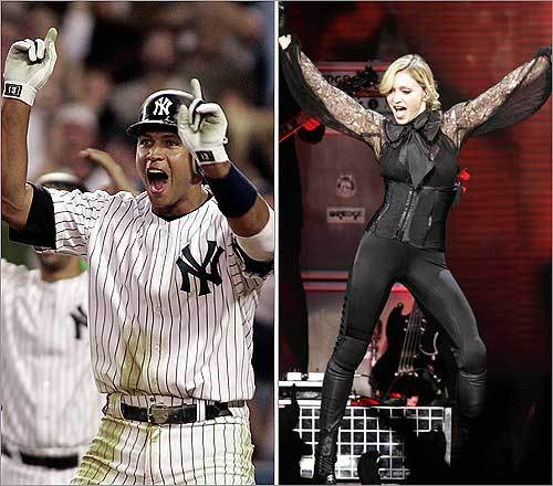The A-Rod-Madonna relationship dominated celebrity headlines earlier this year when reports of a Madonna-Guy Ritchie divorce surfaced. Many said Rodriguez was the reason for the split.
