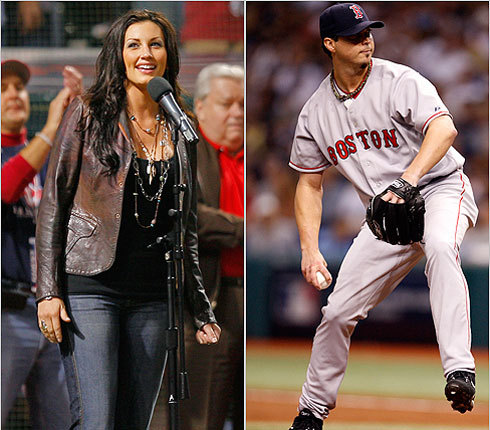 Boston Red Sox starting pitcher Josh Beckett has dated such starlets as country singer Danielle Peck (left) and model Leeann Tweeden.