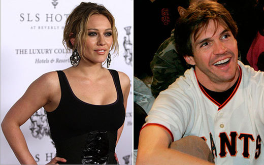 San Francisco starting pitcher Barry Zito briefly dated pop starlet Hilary Duff in 2007.