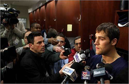 New England Patriots quarterback Matt Cassel talked about the end of the team's season at a press conference in Foxborough on Dec. 29.