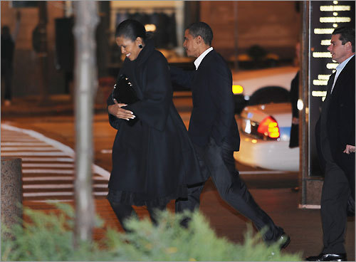 After the election, the Obamas spent their first night out at Spiaggia, a tony Italian restaurant with a view of Oak Street Beach. This reservations-only restaurant has a white truffle tasting menu and a $43 wood-roasted fillet of turbot and pork belly with Umbrian lentils, chanterelle mushroom, sherry vinaigrette, and chervil.