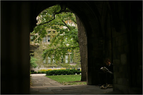 A scene from the University of Chicago campus, where Obama taught at the law school.
