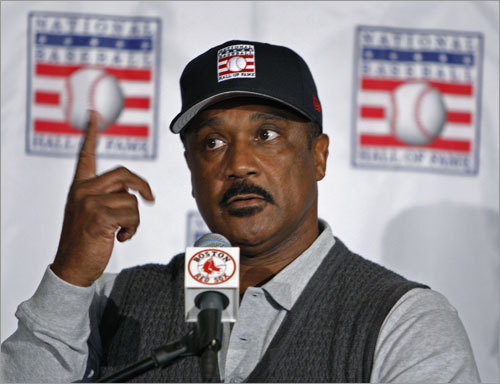 Rice also addressed why it might have taken so long to be elected: 'I think what you're trying to get at is that some of the writers probably said I was arrogant. You know that wasn't true. You want to talk about baseball, I talk about baseball, but I never talked about my teammates. I protected my teammates. I don't think you should make any excuses, when I felt like as captain of the ball club, I took a lot of pressure off the guys because some guys could handle pressure, some guys couldn't handle pressure, and I was the type of guy that I got paid to go out and play baseball.'