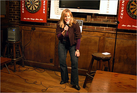 'Being in management, I was responsible for making Schindler's List. You knew every day who was going to go.' – Sue Burton, during a performance at Rafferty;s Pub in Marshfield.