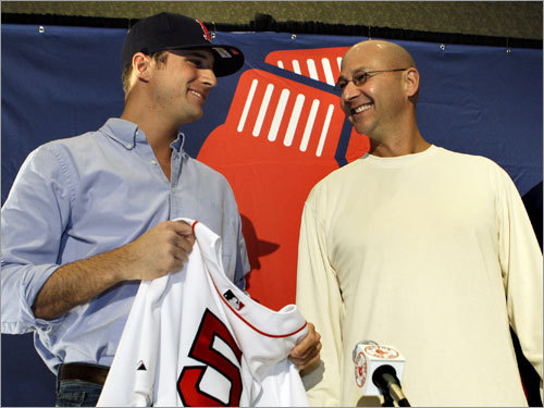 Rocco Baldelli, OF A new Fenway favorite was born on Jan. 8, when the Sox signed the Cumberland, R.I. native to a one-year, $5 million deal. Baldelli, 27, was the fifth overall pick in the 2000 draft and played all of his five seasons with the Rays. He will be a backup outfielder in Boston.