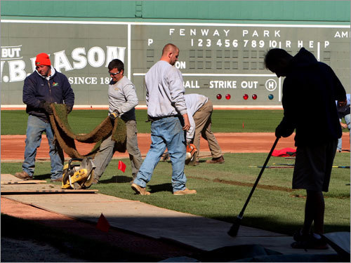 Under construction Like the subcontractors who replaced 20,000 square feet of infield sod at Fenway Park this winter, Red Sox management was busy making roster upgrades as they try to remain a contender in the American League East. With the Jason Varitek deal seemingly signaling the end of their offseason moves, we look back at the making of the 2009 Red Sox, in chronological order.