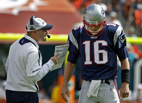 Josh McDaniels The former Patriots offensive coordinator and quarterbacks coach (left, with quarterback Matt Cassel) left in 2009 to coach the Broncos. At 32, he was the the youngest head coach in the four major professional sports. McDaniels was fired by the Broncos after less than two seasons on the job and is currently the offensive coordinator for the St. Louis Rams. A league source indicated to the Globe that a reunion could be in the works, with Josh McDaniels possibly returning to the Patriots.